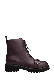 Бордовые ботинки на шнуровке Portal