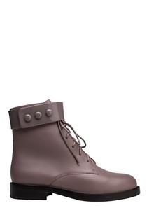 Розовые кожаные ботинки Portal