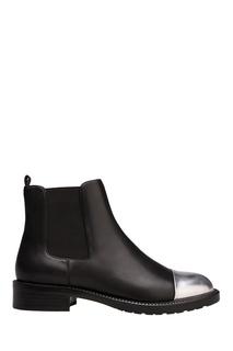 Черные ботинки с серебристой вставкой Portal