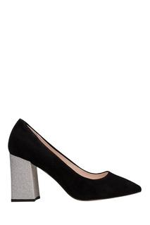 Черные туфли с серебристым каблуком Portal