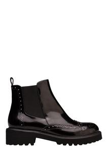 Черные лакированные ботинки с заклепками Portal