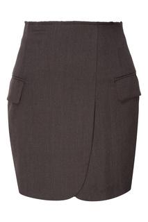 Коричневая юбка с декоративными карманами 404 NOT Found |
