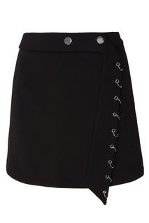 Черная юбка с кольцами Maje