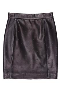 Черная юбка с отделкой Claudie Pierlot