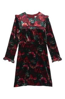 Мини-платье с контрастным принтом Sandro