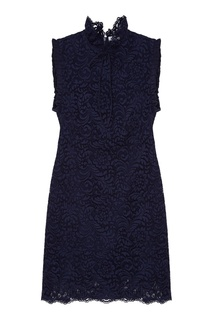 Темно-синее платье без рукавов Sandro