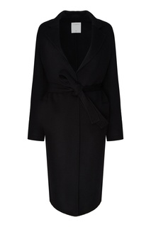 Черное пальто с карманами Sandro