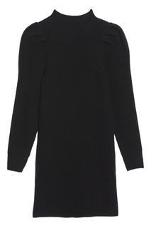Черное платье с длинными рукавами Sandro