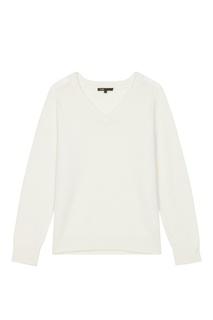 Белый пуловер Maje
