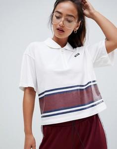 Укороченная футболка-поло с открытой молнией Juicy By Juicy Couture - Темно-синий