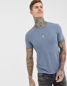 Синяя футболка с логотипом AllSaints - Синий