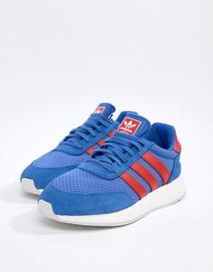Синие кожаные кроссовки adidas Originals I-5923 D96605 - Синий