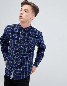 Рубашка в клетку Tokyo Laundry - Темно-синий