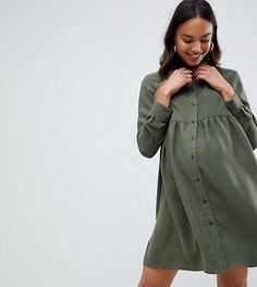 Платье-рубашка мини ASOS Maternity - Зеленый