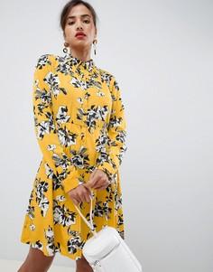Платье-рубашка с длинными рукавами Vila - Желтый
