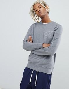 Приталенный свитер с логотипом Calvin Klein - Серый