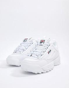 Белые кроссовки Fila Disruptor - Белый