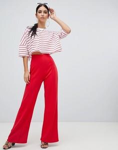 Красные широкие брюки Missguided - Красный
