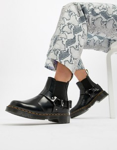 Черные кожаные ботинки челси с ремешками Dr.Martens Wincox - Черный