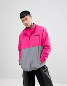 Розовая куртка со светоотражающей вставкой Fila black line - Розовый