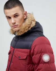 Дутая куртка колор блок Burton Menswear - Красный