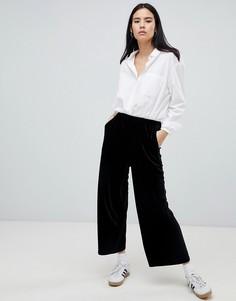 Укороченные бархатные брюки Dr Denim Abel эксклюзивно для ASOS - Черный