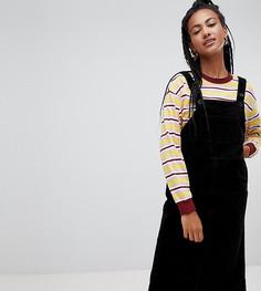 Черный вельветовый сарафан миди Monki - Желтый