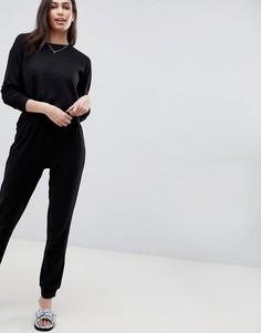 Комплект из свитшота и джоггеров ASOS DESIGN Lounge - Черный