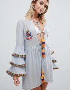 Пляжное платье с вышивкой Glamorous - Синий