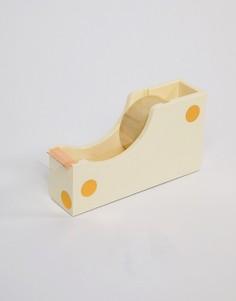Золотистый диспенсер для клейкой ленты в горошек Kate Spade - Мульти