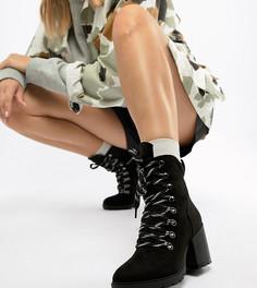 Походные ботинки на каблуке Truffle Collection - Черный