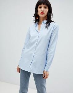 Хлопковая рубашка Pieces - Синий
