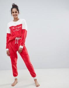 Пижамный комплект Chelsea Peers The Snuggle Is Real - Красный