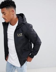 Черная куртка на молнии с логотипом EA7 Train Core ID - Черный