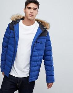 Синяя дутая куртка со вставками Burton Menswear - Синий