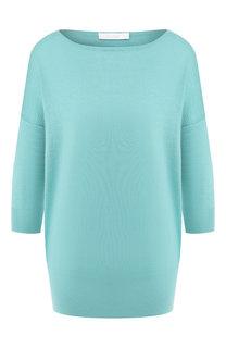 Однотонный пуловер из смеси кашемира и шелка Cruciani