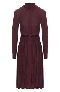 Шерстяное платье с отложным воротником Loro Piana