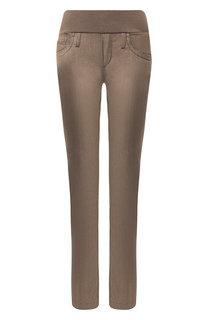 Однотонные джинсы прямого кроя Pietro Brunelli