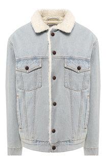 Джинсовая куртка с потертостями Balenciaga