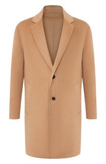 Однобортное пальто из смеси шерсти и кашемира Kenzo
