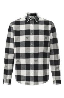 Хлопковая рубашка с воротником кент Kenzo