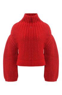 Вязаный пуловер с объемными рукавами Lanvin