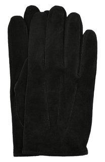 Замшевые перчатки HUGO
