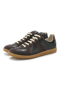 Кожаные кроссовки Fusion на шнуровке Maison Margiela