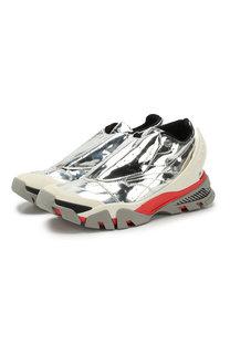 Комбинированные кроссовки без шнуровки CALVIN KLEIN 205W39NYC