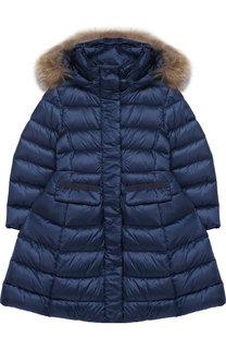 Стеганое пальто на молнии с капюшоном Add
