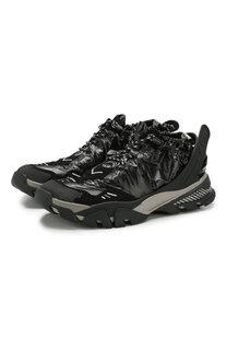Текстильные кроссовки на шнуровке CALVIN KLEIN 205W39NYC