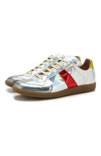 Кожаные кроссовки Replica на шнуровке Maison Margiela
