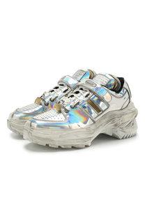 Кожаные кроссовки Retro Fit на шнуровке Maison Margiela