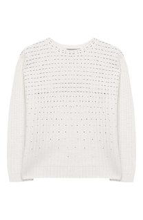 Пуловер фактурной вязки со стразами Ermanno Scervino